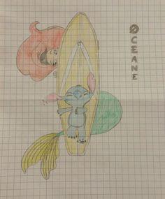 Stitch and Ariel