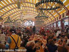 Only 2 weeks to go until the Oktoberfest fun begins. This is inside the Löwenbräu tent at Oktoberfest Munich