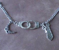 50 Shades of Grey Inspired Charm Bracelet Mask Handcuffs Tie Key Squirrelmade