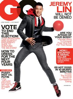 Jeremy Lin GQ cover (obsessed with this hoody and suit combination)