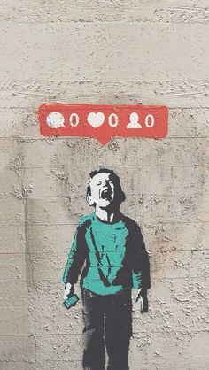 Banksy inspired art.
