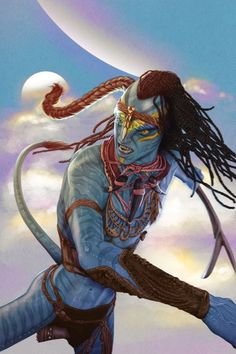 Tsu'tey and Jake Sully prepare for war against the Sky People. As the Omatikaya advance into battle, Tsu'tey must embrace his role as olo'eyktan-- and confront the reality of the inevitable changes to come. Avatar James Cameron, Avatar Fan Art, Sky People, Avatar Picture, Avatar Movie, Avatar World, Fiction Movies, Aliens And Ufos, Guy Drawing