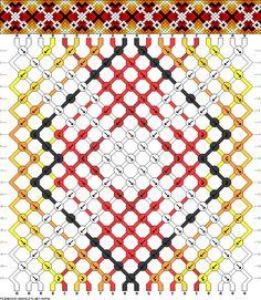 Muster # 68594, Streicher: 20 Zeilen: 20 Farben: 8
