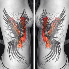 Phoenix bird and flower of life. Amazing. (: