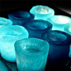 Learn how to make shot glasses - out of ice.