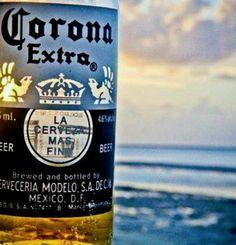 My favorite ... La cerveza mas fina - Corona Extra <3 Corona Extra, Corona Beer, San Pellegrino, Beverages, Drinks, Beer Bottle, Soda, Canning, Life