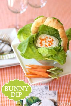 Easter Bunny Carrot Dip in a Bread Basket! This would be really fun at Easter brunch! Party Food For Adults, Easter Appetizers, Bread Bowls, Easter Brunch, Sunday Brunch, Food Stamps, Pinterest Recipes, Clean Eating Snacks, Food Recipes