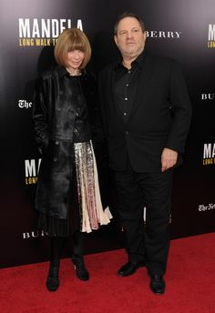 Anna Wintour and Harvey Weinstein
