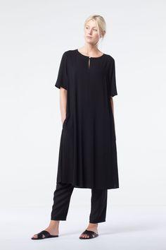 Dress Tula in color Black available at calgary.oska.com