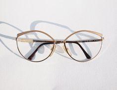 9ef0e49fb6 Christian Dior Vintage NOS Luxury Sunglasses Cat Eye cateye frames, 70s  Gold and beige sand Enamel
