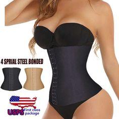 02b1ddba74 Women Underbust Latex Waist Cincher Vest Trainer Girdle Control Chaleco  Body Shaper Shapewear - LikeEJ - 1