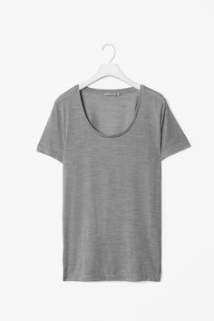 Silk melange t-shirt