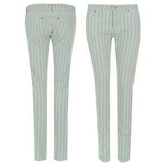 Firetrap-Skinny-Jean-Ladies-Size-16R-Lt-Wash-Stripe