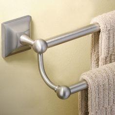 Moen Retreat 24 In Towel Bar Spot Resist Brushed Nickel Towels