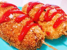 韓国♡チーズホットドッグの画像