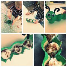 how to make a cress caterpillar, cress caterpillar for kids, simple food growing activity for kids