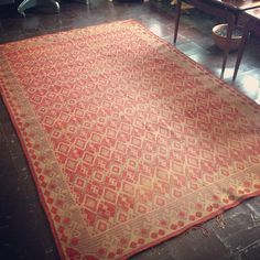 Chenille floor cloth (at Moon and Arrow home of territory hard goods)