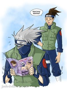 Kakashi and Iruka by jadress on deviantART