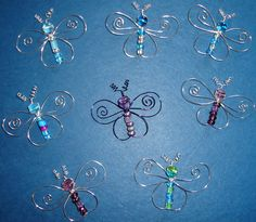 cute wire butterflies with beads. I can see these in the window...or in a garden, catching light and sparkling!