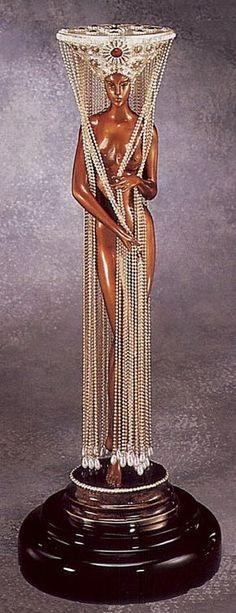 """""""No. 1"""" (Bronze) by.......ERTE'      ....   (Romain de  Tirtoff ).... .....  11/23/1892 -- 4/21/1990 .... Russian"""