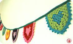 Crochet Bunting Tutorial, thanks so as loving the heart! xox