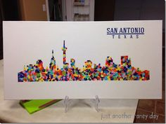 San Antonio Texas Silhouette for School Auction - justanotherraneyday.blogspot.com  Could do state shape?
