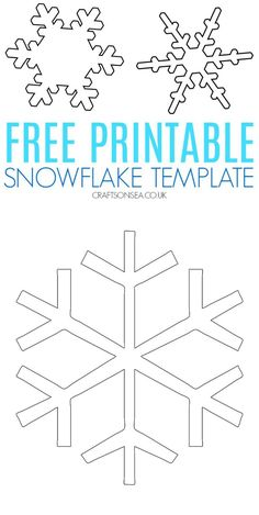 Two PDF's one with a large free snowflake printable and one with three small snowflake designs perfect for kids art and crafts Snowflake Printables, Snowflake Template, Snowflake Craft, Printable Crafts, Templates Printable Free, Snowflake Designs, Snowflakes, Free Printables, Christmas Activities For Toddlers