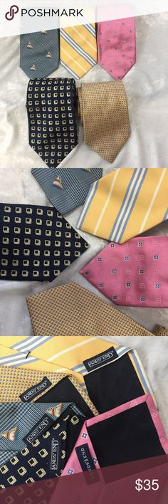 """Lot of 5 Lands End mens ties bundle tie Total of 5 men's ties all made by Lands' End. Various colors and styles. Bottom measures approximately 3 1/2"""" wide and length is slightly varied. (See picture). Thank you for looking! Lands' End Accessories Ties"""