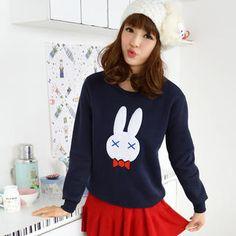'59 Seconds – Rabbit-Print Pullover'