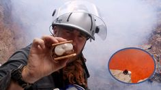 Cooking Smores In A Volcano
