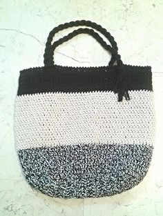 BAG PATTERN for FREE twine tote bag crochet by Thecatandtheyarn
