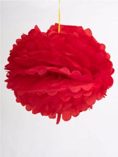 Wedding decor  pom pom red paper - online in india