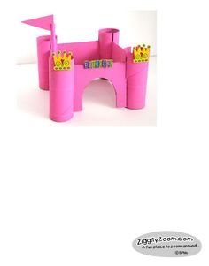 Princess Castle to make from recycled paper tubes ... easy.  #princess  #crafts