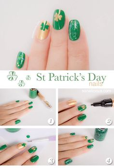 How-to for St Patricks Day Nails
