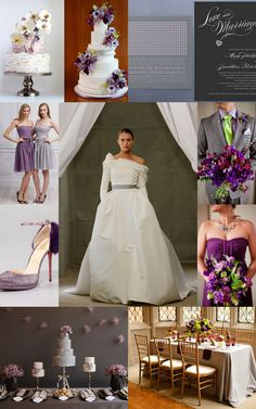 Colour Craze: Grey and Lavender. From glitzy to minimalist, subtle to standout—brides of any style can have it made with these shades.