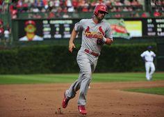 Matt Carpenter runs the bases after hitting a home run against the Chicago Cubs... fifth inning. 7-25-14