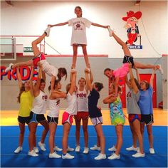 youth cheerleading pyramids - Google Search