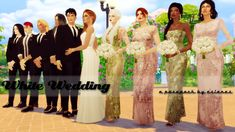 Here is White Wedding, my new pose pack! There are a few awesome wedding poses around, but I really wanted some bigger wedding party poses. There are 8 group poses, 55 poses in total. Sims 4 Wedding Dress, Luxury Wedding Dress, Wedding Dresses, Maxis, My Sims, Sims Cc, Sims 4 Dresses, Free Sims, Sims 4 Cc Skin
