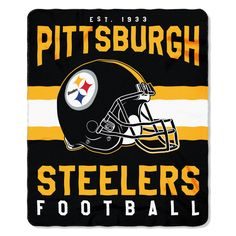 """Steelers OFFICIAL National Football League, """"Singular"""" 50""""x 60"""" Fleece Throw by The Northwest Company"""