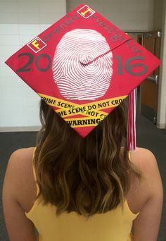 Forensic graduation cap decorations