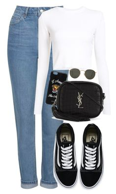 """Untitled #1415"" by morggz ❤ liked on Polyvore featuring Topshop, Gucci, Proenza Schouler, Yves Saint Laurent, Vans and Ray-Ban"
