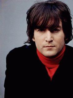 Johns  Beatle hair.