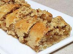 מתכון רולדת תפוחי עץ ואגוזים, רולדת תפוחים ואגוזים ביתית מבצק פריך נפלא שמתאימה מאוד לצד קפה חם וגם לראש השנה