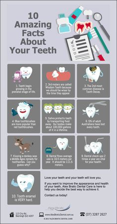 10 Amazing Facts About Your Teeth www.alexbraticdental.com.au