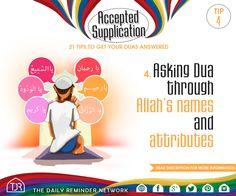 Tip #4 - Asking dua through Allah's names and attributes.  Read more: https://instagram.com/p/3IZvs5Gtob/