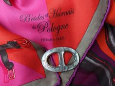 http://wp.me/p5WtEB-3kO  Hermès vintage silk scarf / #MaiTaiCollection Mother of Pearl scarf ring :-)