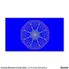 Custom #Business #Cards,Blue Kaleidoscope Mandala Art 2 Double-Sided Standard Business Cards (Pack Of 100)