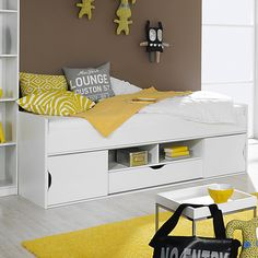 Function bed MATEO - alpine white - 90x200 cm                              …