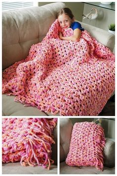 soft corcheted blanket | crochet patterns for beginners, see more at http://diyready.com/17-amazing-crochet-patterns-for-beginners