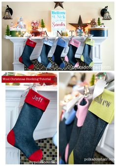 How to make your own Christmas stockings (from Happy At Home ...